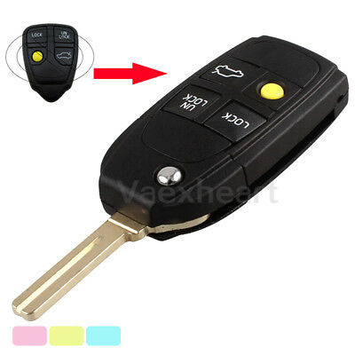 4 Button Flip Key Shell fit for Refit VOLVO S40 V40 C70 S60 S80 Remote Case Fob