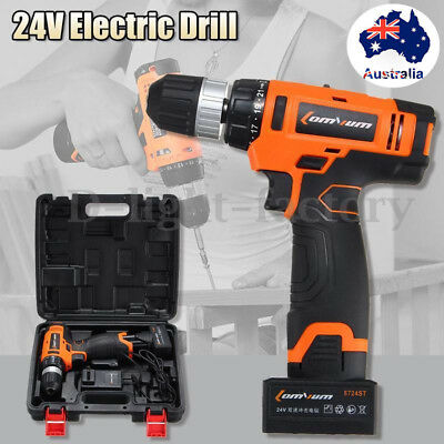 AU 24V Wireless Electric Drill Driver Sensational Electric Drill With Bits Set