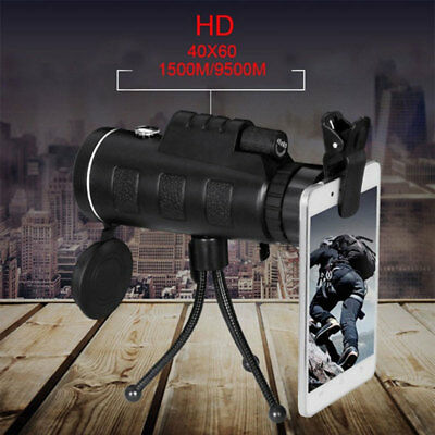 High Power Portable 40X60 HD Optics Outdoor Travel Monocular Telescope
