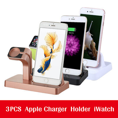 Portable Charging Dock Stand phone Holder For iPhone Apple Watch  iWatch 7 6S 6