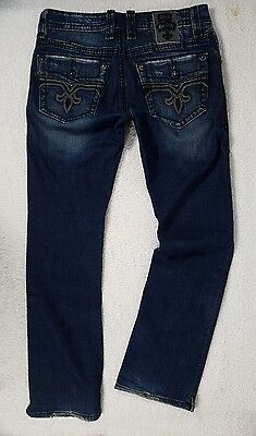 ROCK REVIVAL Jeans SPENCER 33x33 ALT STRAIGHT ~ edgy & HOT!!