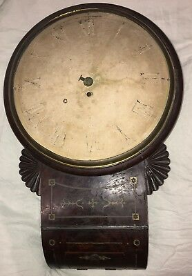 Regency Wall clock fusee movement untouched convex dial 14inch for restoration