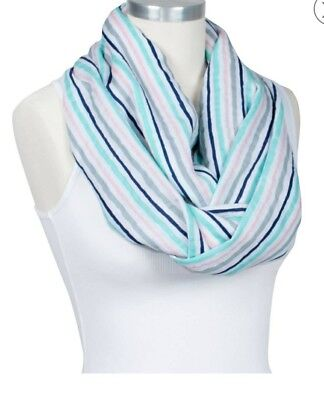 Bebe Au Lait Nursing Infinity Scarf Cover Muslin Cotton Breastfeed Candy Stripes