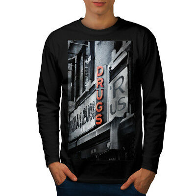 Drugs R Us Store USA Men Long Sleeve T-shirt NEW | Wellcoda