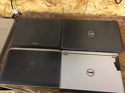 Job Lot of 4 Dell Laptops. Mostly Working Intel i5 Processors.