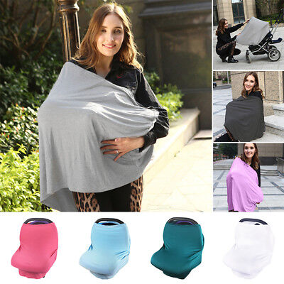 Stretchy Newborn Infant Nursing Feeding Cover Baby Car Seat Canopy Cart Covers