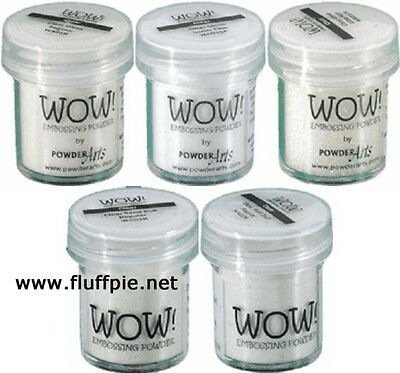 WOW! CLEAR EMBOSSING POWDER - COLOUR & GRADE CHOICES - free UK p&p on extras