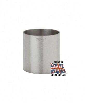 25Ml Stainless Steel Thimble Spirit Bar Pub Catering Measure Ce Stamped