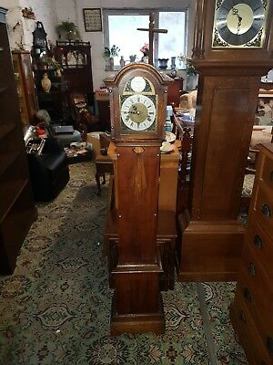 Granddaughter clock westminster Chimes in oak & mahogany case