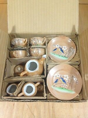 Vintage Little Hostess porcelain playtime tea set in original box~NOS *