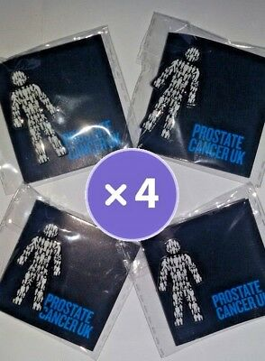4 X BRAND NEW Prostate Cancer UK (you get FOUR!) - Men United  Pin Badge Sealed