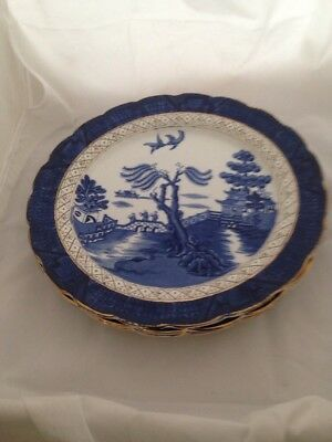 Booths Real Old Willow Set Of Three Large Plates