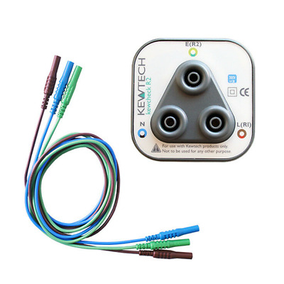 Kewcheck R2 Ring Mains Socket Tester plus LDM202 Test Leads for Kewtech Testers