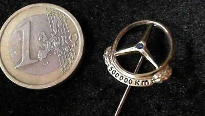 Mercedes Bent Anstecknadek Badge 835 Silber vergodet 500000 KM