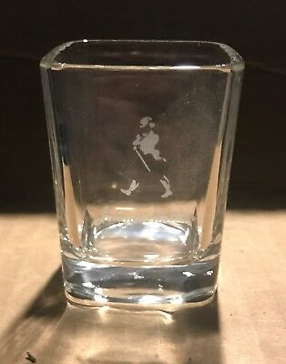 Johnnie Walker Square Shot Glass (Set of 4) Vintage - Walking Right to Left!