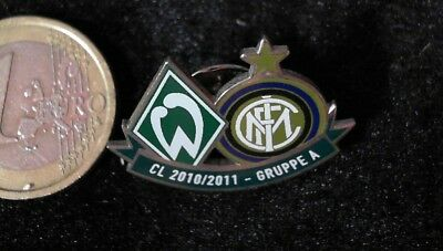 Fussball Pin Badge Werder Bremen Inter Mailand Milano Champions League 10/11