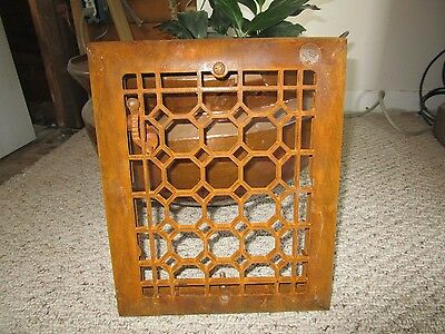 Vtg Cast Iron Metal Floor Wall Heat Register Vent Heater Grate