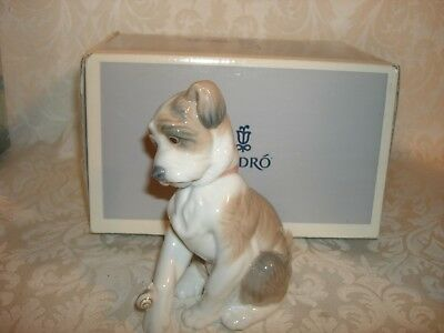 Lladro #6211 Puppy Dog with Adorable New Friend (snail)  mint cond. ONE CENT!!