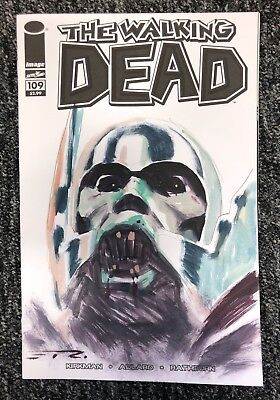 ESAD RIBIC THE WALKING DEAD (ZOMBIE THOR) Original Sketch Cover Art