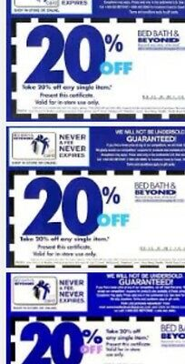5 - 20% Off  Single Item At Bed Bath And Beyond