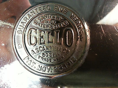 GELLO Sanitary Hot Water Bottle A.S.Campbell Co. Boston Patented Nov 26,1912