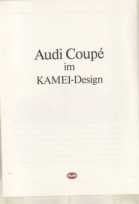 1991 Audi Coupe Quattro 20V Brochure German wy9666