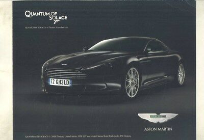 2009 Aston Martin DBS Brochure 007 Quantum of Solace wy9658
