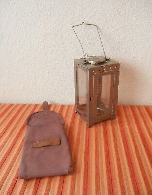 Fine Vintage Swiss Army Folding Lantern inkl. Case Hiking Camping military CH