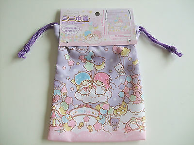 New!! Sanrio Little Twin Stars Kawaii Drawstring Bag Mini/Kiki & Lala