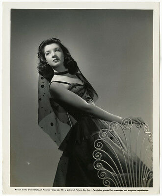 Vintage 1944 Peggy Ryan Chic Moderne Hollywood Regency Glamour Pin Up Photograph