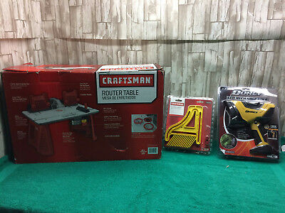 Craftsman Router Table & Craftsman Featherboard & Dorcy LED Rechargeable Light