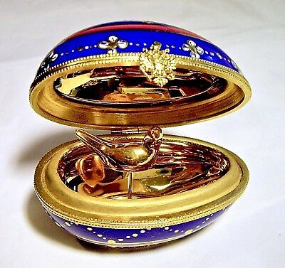 Limited Edition! Limoges France French Fabergė Egg Trinket Box Peint Main Limoge