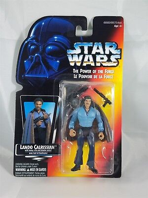 Star Wars POTF Bilingual card Lando Calrissian w/Heavy Rifle & Blaster  NIB