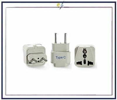 Ceptics Europe Travel Plug Adapter (Type C) - 3 Pack [Grounded & Universal] NEW!