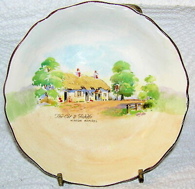 Royal Doulton Fruit Bowl D 6072 Old English Inns Cat And Fiddle Australia A Mark