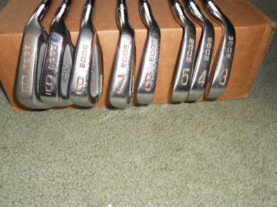 Vintage Hogan Edge Forged Set Of Right Handed Irons 3-E Wedge Steel Shafts