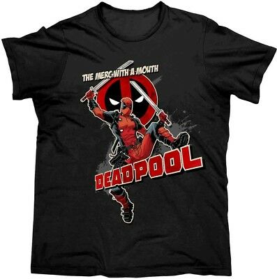 Deadpool Merc With A Mouth T Shirt  - M - NEW