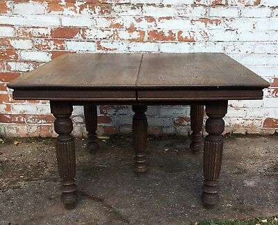 Oak Dining Table Antique 5 Leg Extendable 8 Seater Dining Table