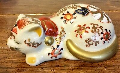 ANDREA by SADEK ASIAN JAPAN KITTY CAT FLORAL FLOWERS RUST YELLOW GOLD TRIM