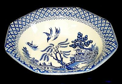 Meakin J. & G. Royal Staffordshire BLUE WILLOW OCTAGONAL VEGETABLE BOWL