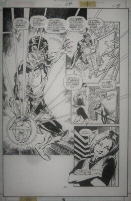 Darryl Banks ~ Green Lantern ~ Half-Splash ~ Kyle Rainer ~ Original Art ~ DC