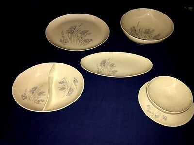 SYRACUSE Carefree China BLUE GRASS ~ Serving Dishes (4 Pcs) ~ Disc. ~ Excellent