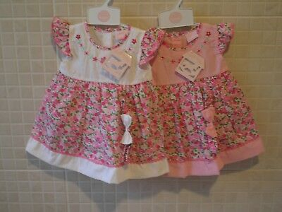 Baby Girl Clothes Dress set Spanish  Romany style Pink White   6 - 24 months