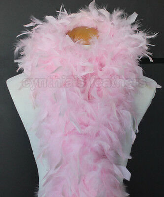Baby Pink 100 Gram Chandelle Feather Boa Dance Party Halloween Costume