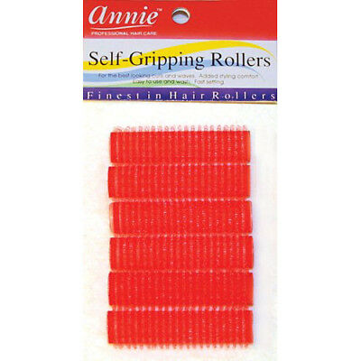 Annie Self-Gripping Rollers #1309, 6 Count Red Small 1/2""