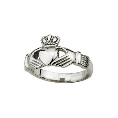 New Ladies Claddagh Ring Stainless Steel Solvar Jewelry Made in Ireland