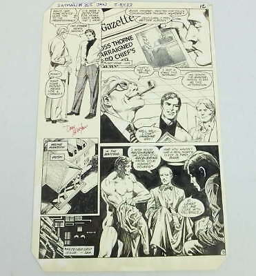 Original Don Newton Alfredo Alcala Art Batman Comic #355 Bruce Wayne Signed 1983