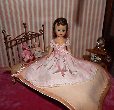 Vintage Madame Alexander Cissette Doll Alexanderkins Watko Brass Bed - NO DOLL