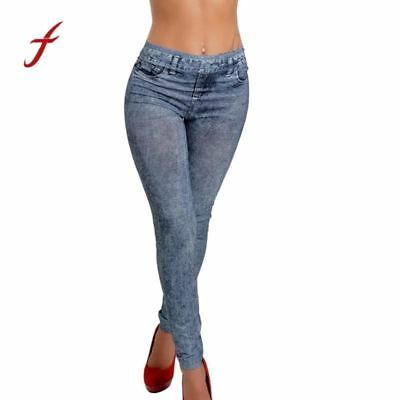 2017 New Fashion Jeans Women Pencil Pants High Waist Jeans Sexy Slim Elastic Ski