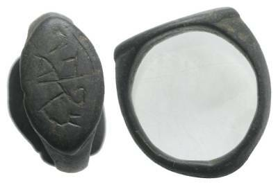 Lac Nice Medieval Ring Xii- Xvi Cent Ad With Inscription 505